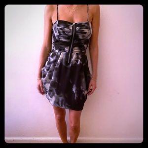 Black & White Tie Dye Dress w/ Pockets